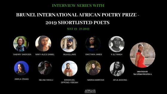 2019 Brunel International African Poetry Prize –  Conversations With Shortlisted Poets