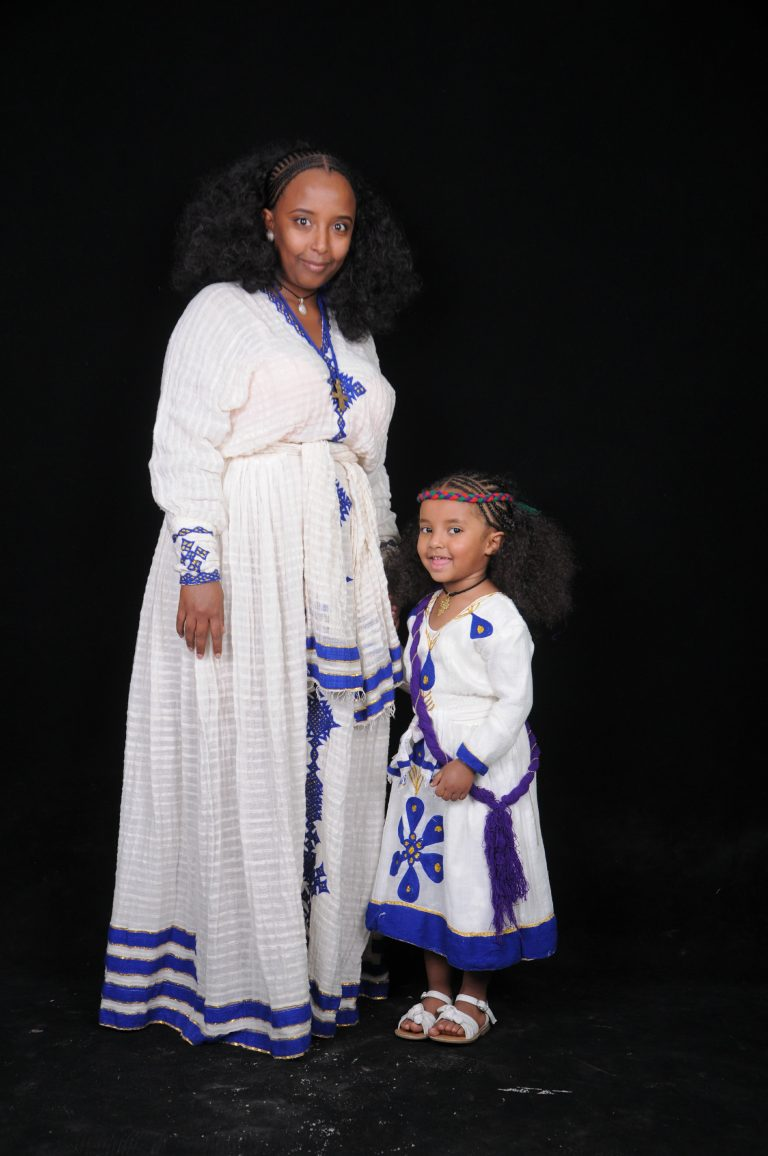 Meaza Hadera with her daughter