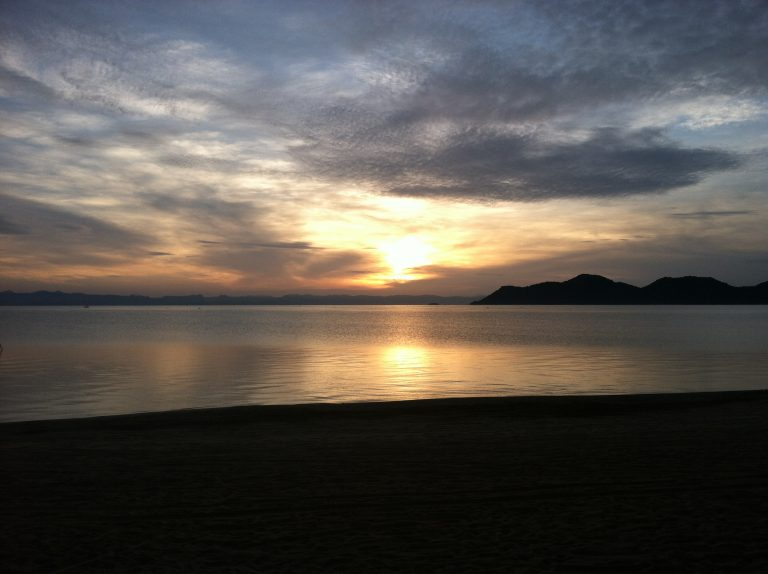 Lake Malawi at sunrise, from an area called Monkey Bay. Images provided by Michelle Chikaonda.