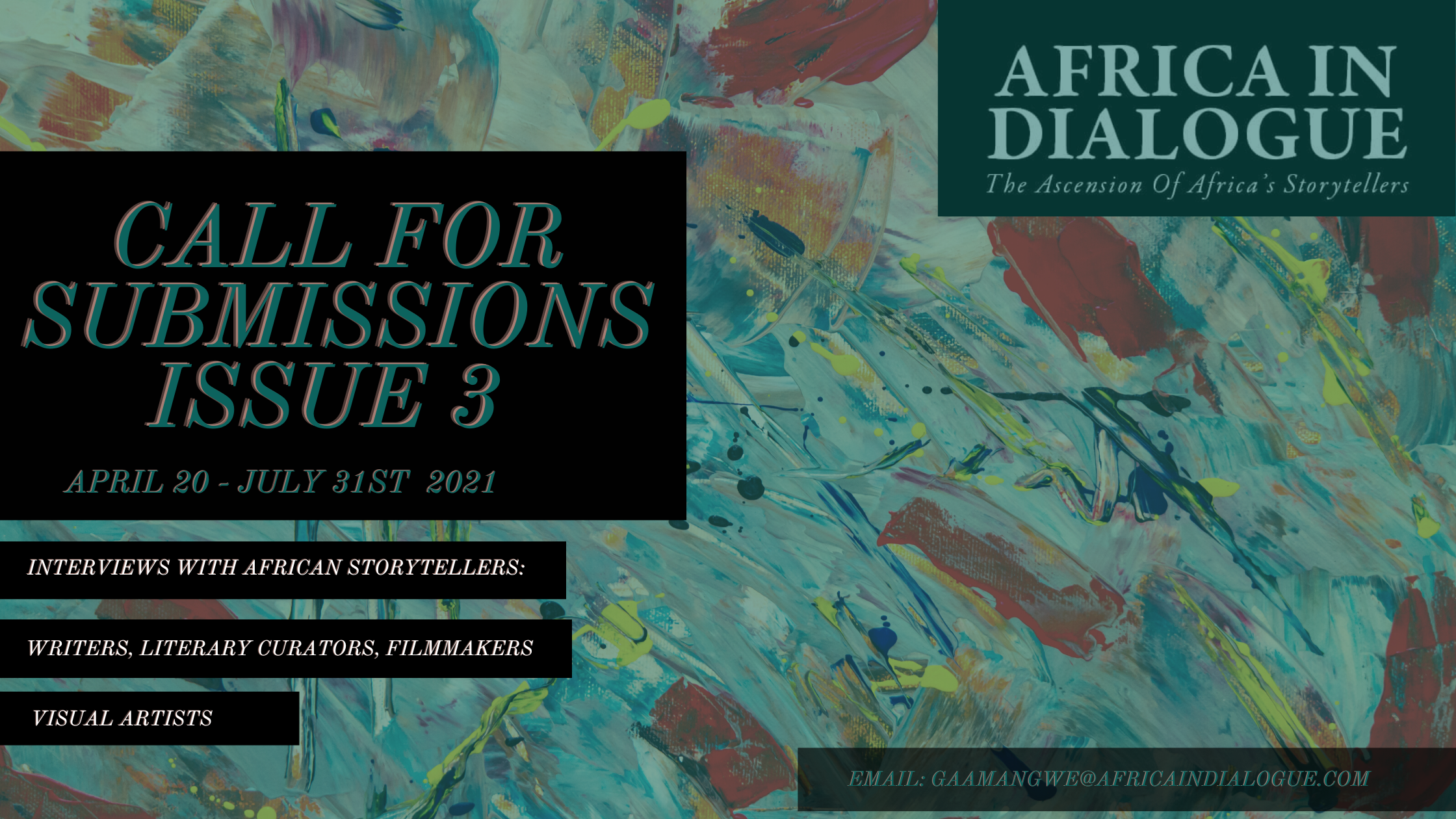 Africa in Dialogue Issue 3 - Call For Submissions