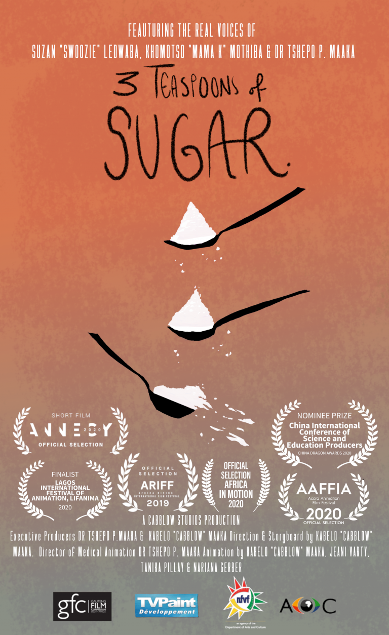 "Film Poster for ""3 Teaspoons of Sugar"", a Cabblow Studios Production"
