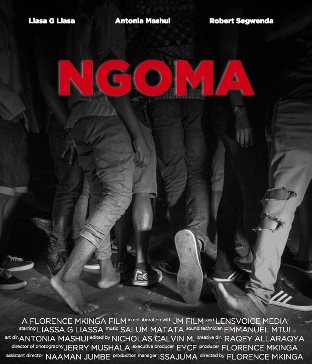 """Film Poster for """"Ngoma"""", a Florence Mkinga film"""