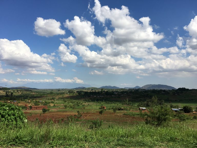A scenic vista from approximately the middle of the 4-hour drive between the capital city, Lilongwe, and Michelle Chikaonda's home city, Blantyre.