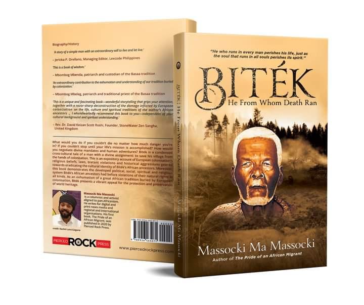 'BITÉK, He From Whom Death Ran' by Massocki Ma Massocki. Publisher: Pierced Rock Press